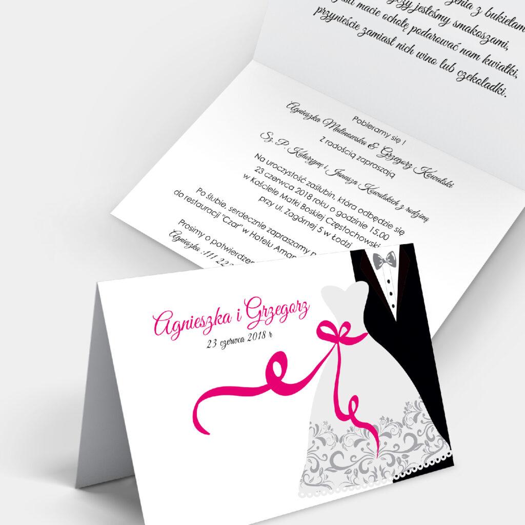 Zaproszenie ślubne Ona i On A6
