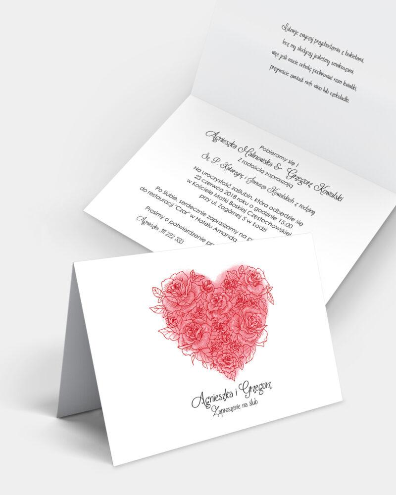 Zaproszenie ślubne Valentine A6