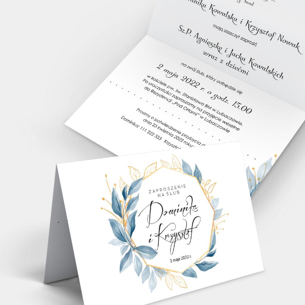 Zaproszenie ślubne Subtelne A6