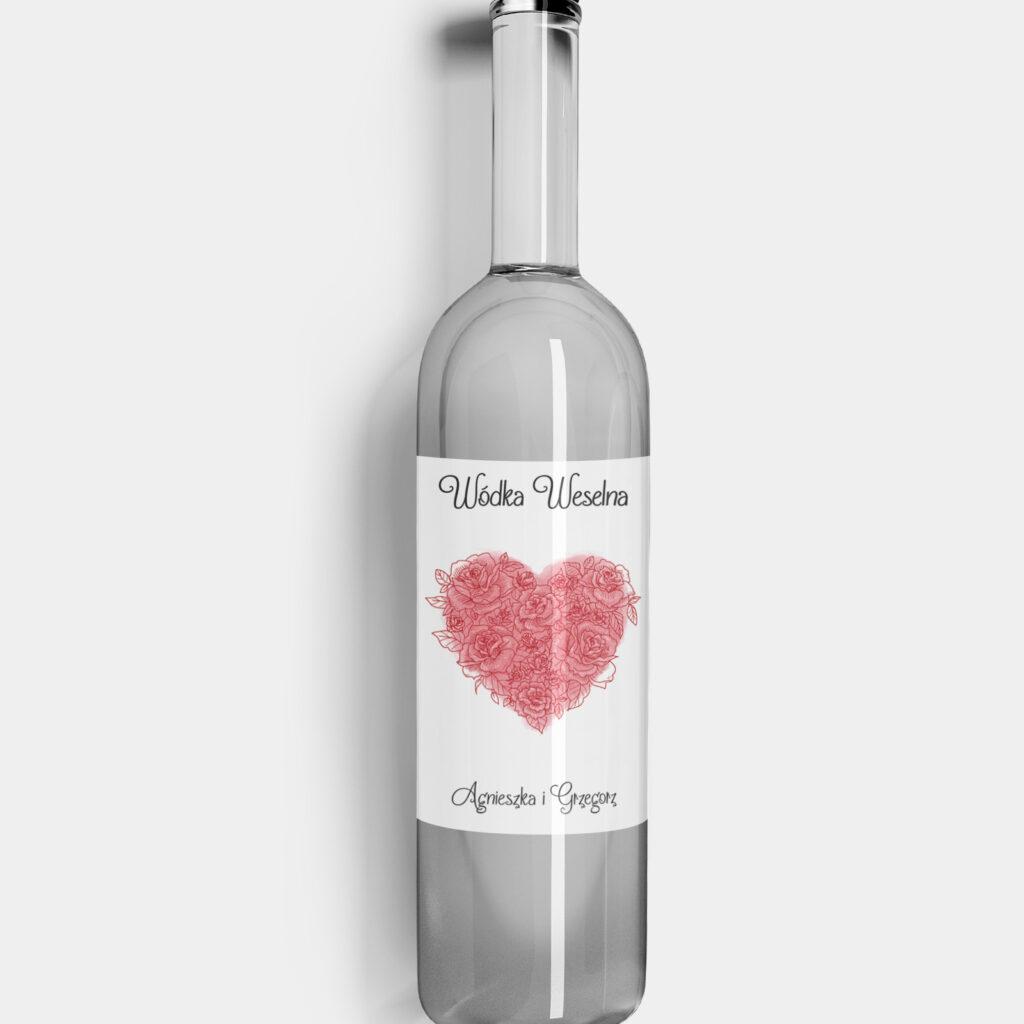 Etykieta na alkohol Valentine
