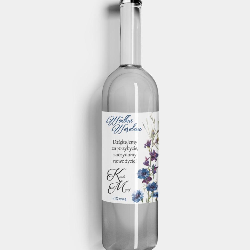 Etykieta na alkohol Polne Kwiaty