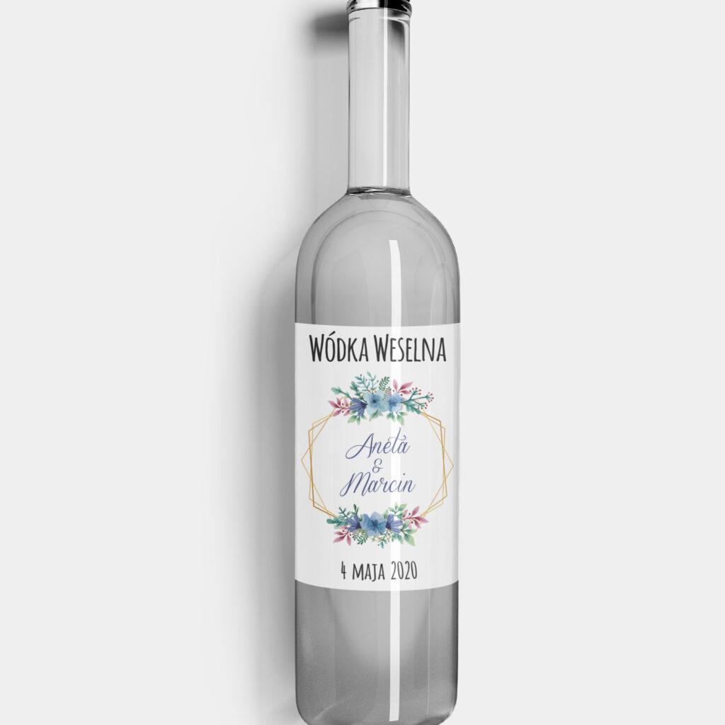 etykieta na alkohol floral