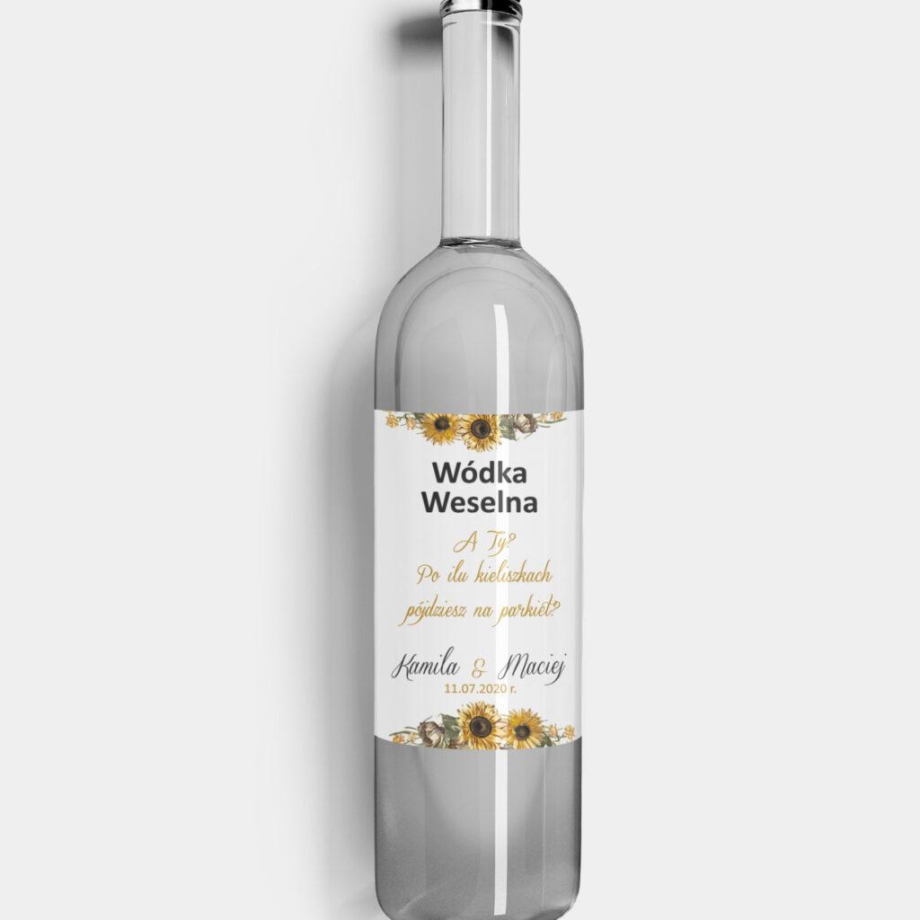 Etykieta na alkohol Słoneczniki