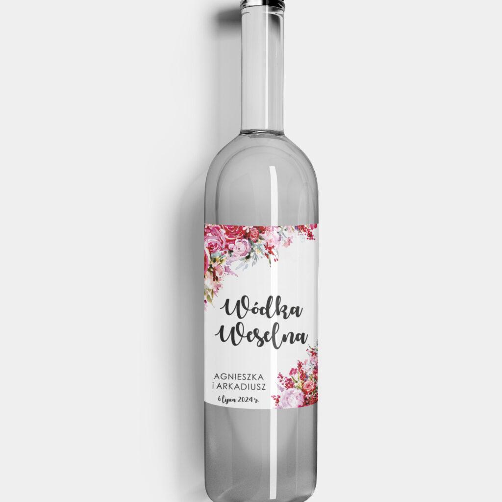 etykieta na alkohol red roses