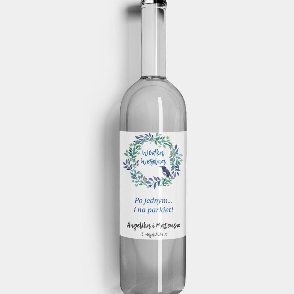 Etykieta na alkohol Niebieski Ptak