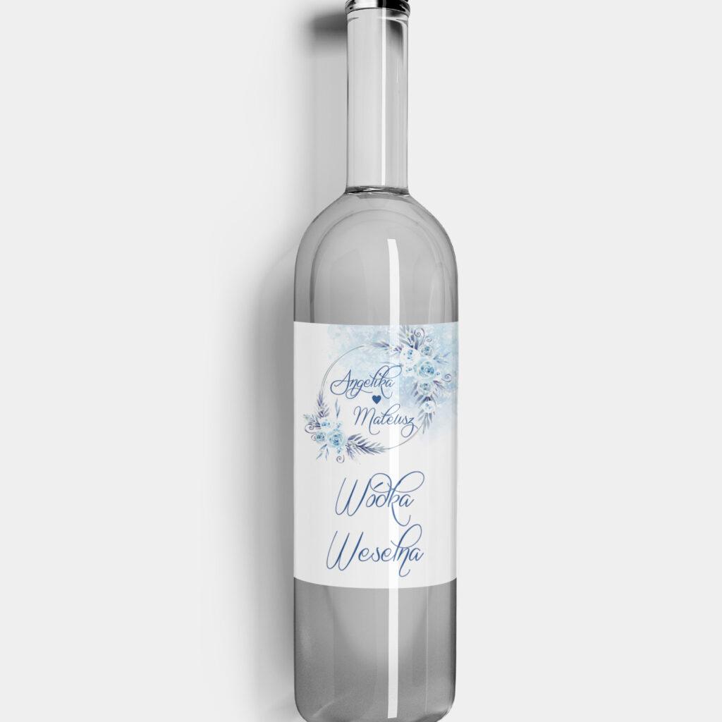 etykieta na alkohol w krainie lodu