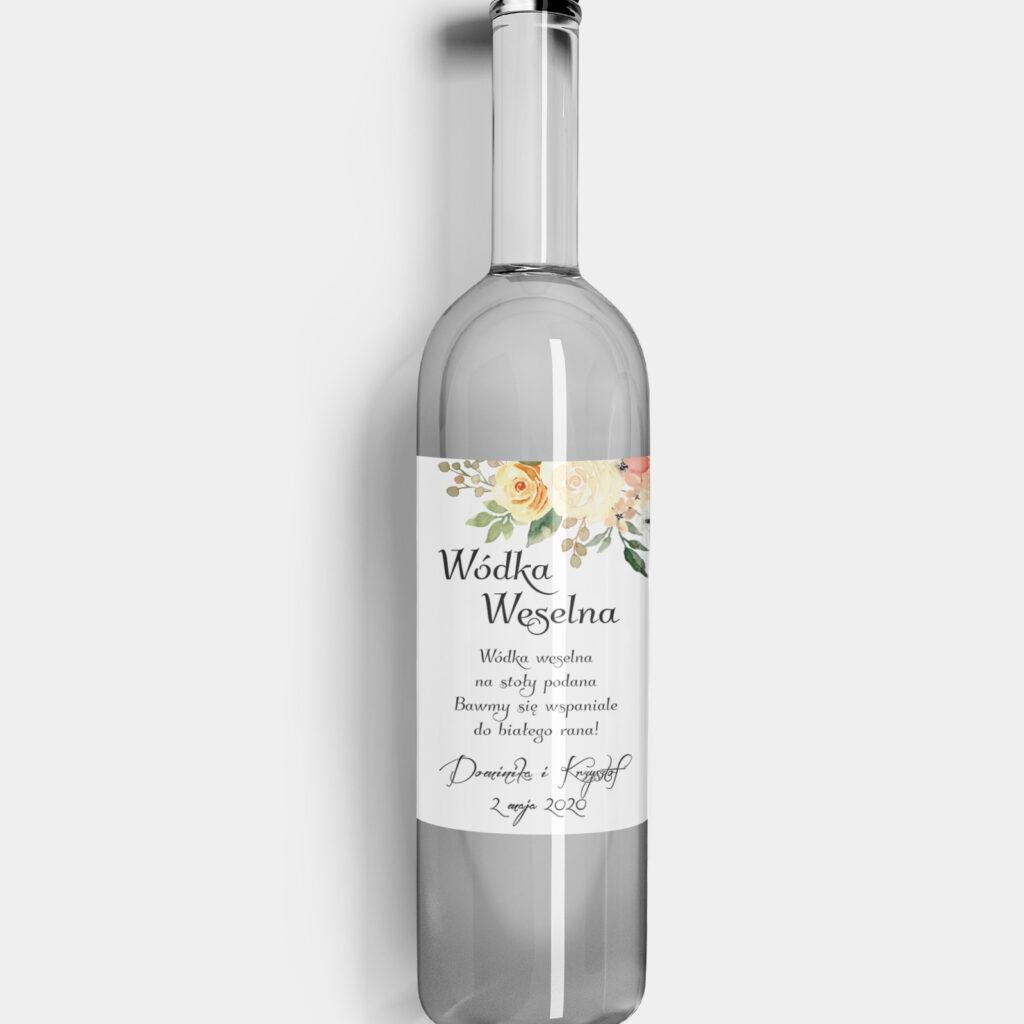 etykieta na alkohol jesienne róże