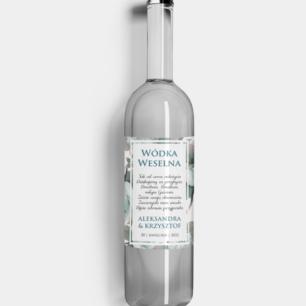 Etykieta na alkohol Zaczarowany Ogród