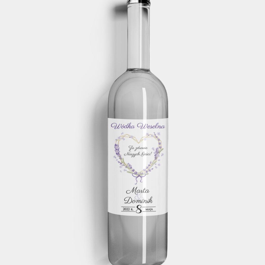 Etykieta na alkohol Violet Love