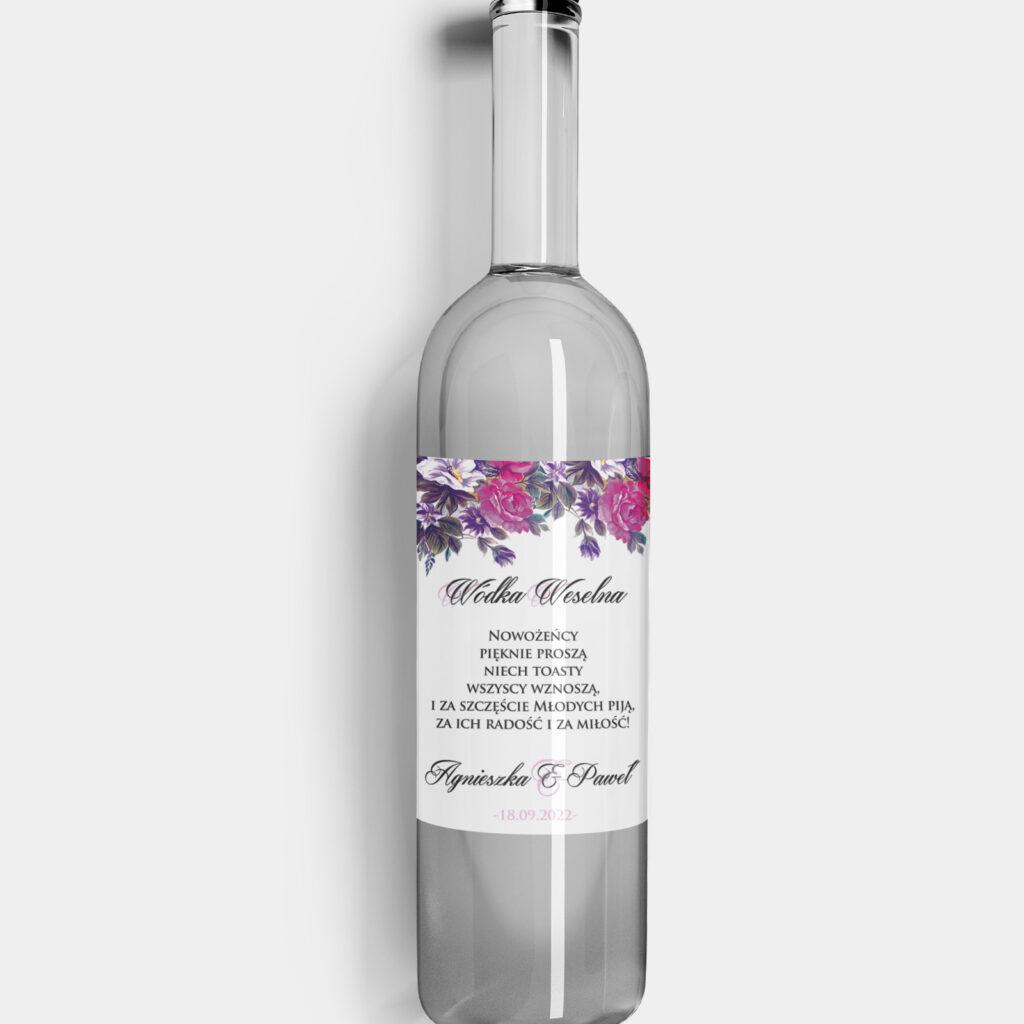 Etykieta na alkohol Dzika Róża