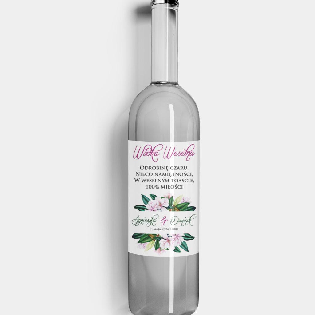 etykieta na alkohol tropikalne