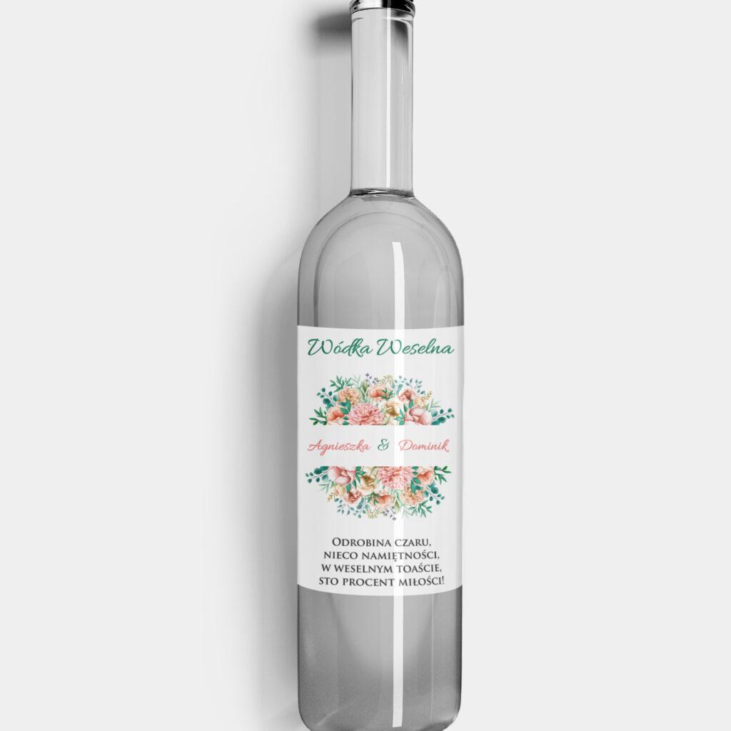 Etykieta na alkohol Wiosenny Bukiet