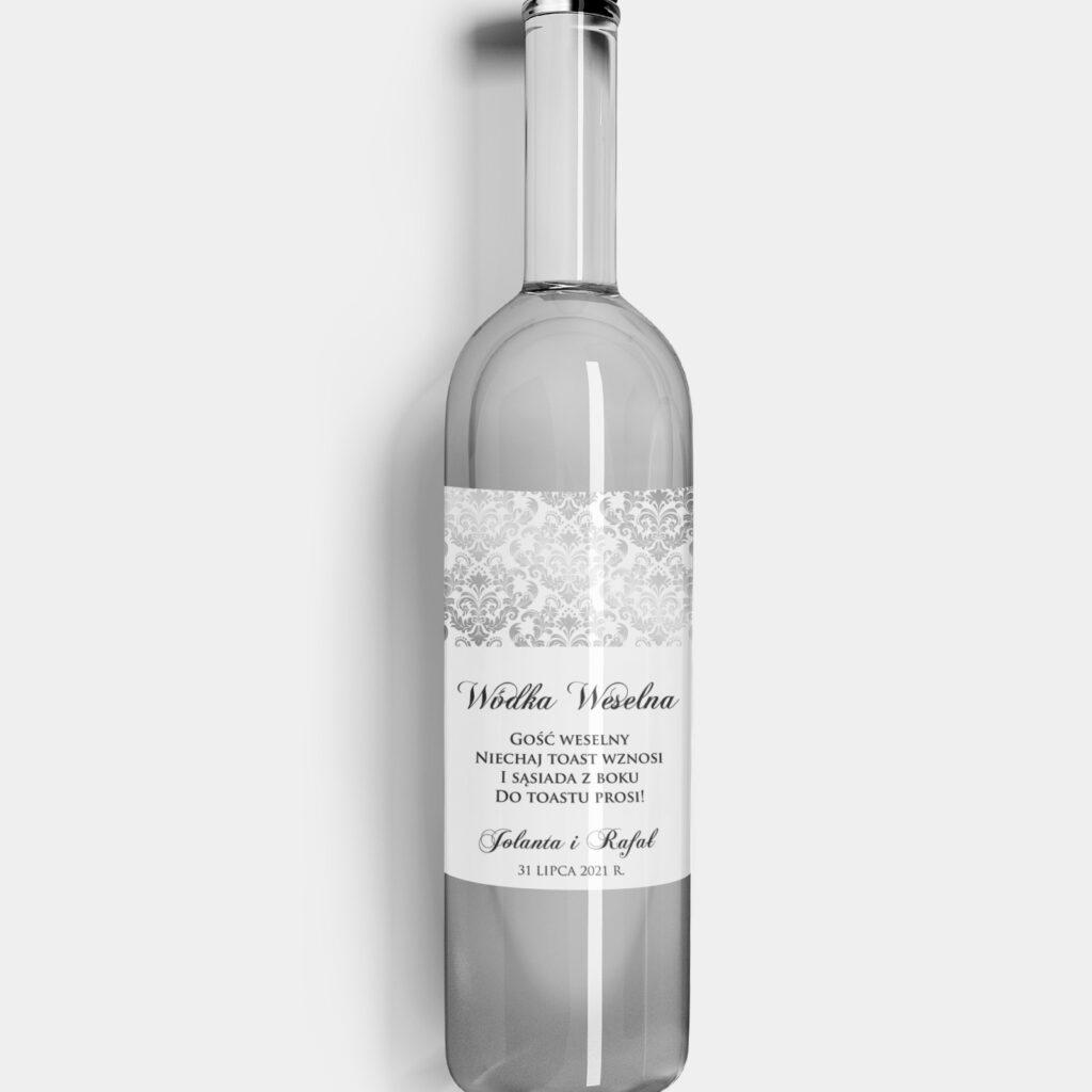 etykieta na alkohol vintage glamour