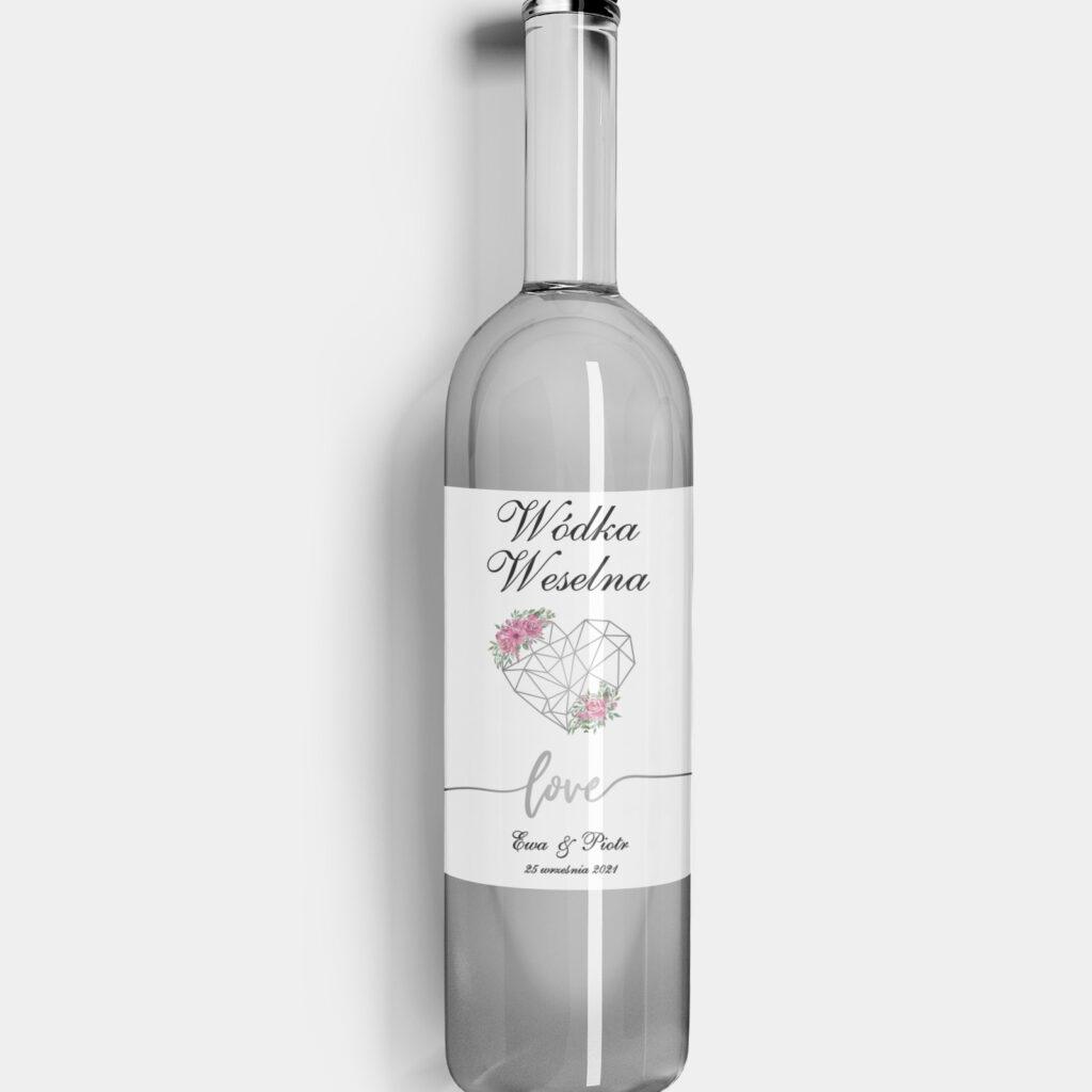 Etykieta na alkohol Love