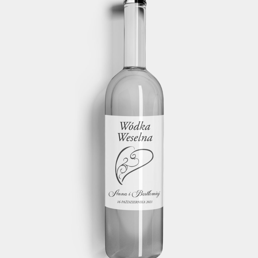 Etykieta na alkohol Classic