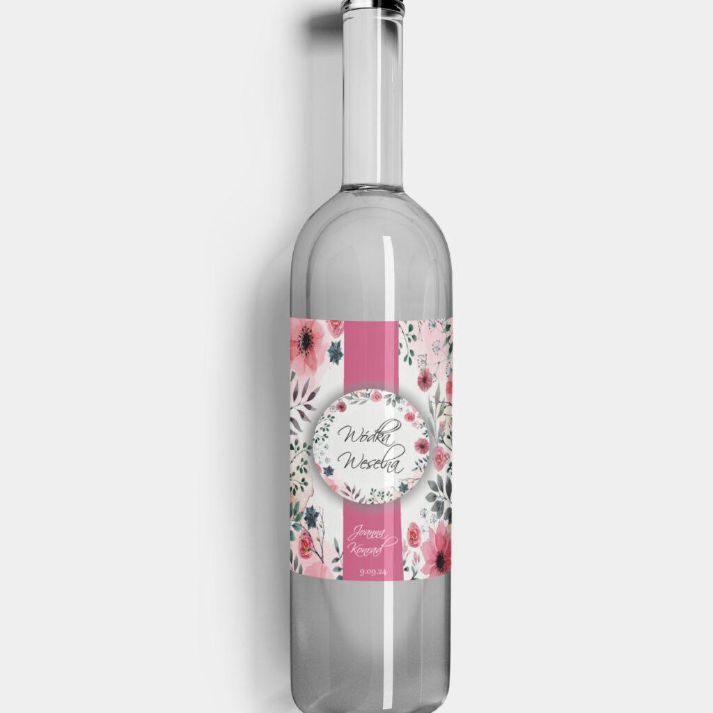 Etykieta na alkohol Kwiatowe