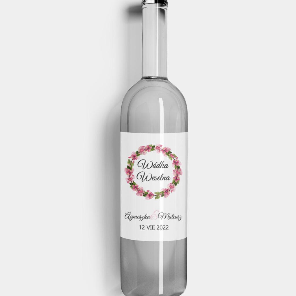 etykieta na alkohol kwiatowe love