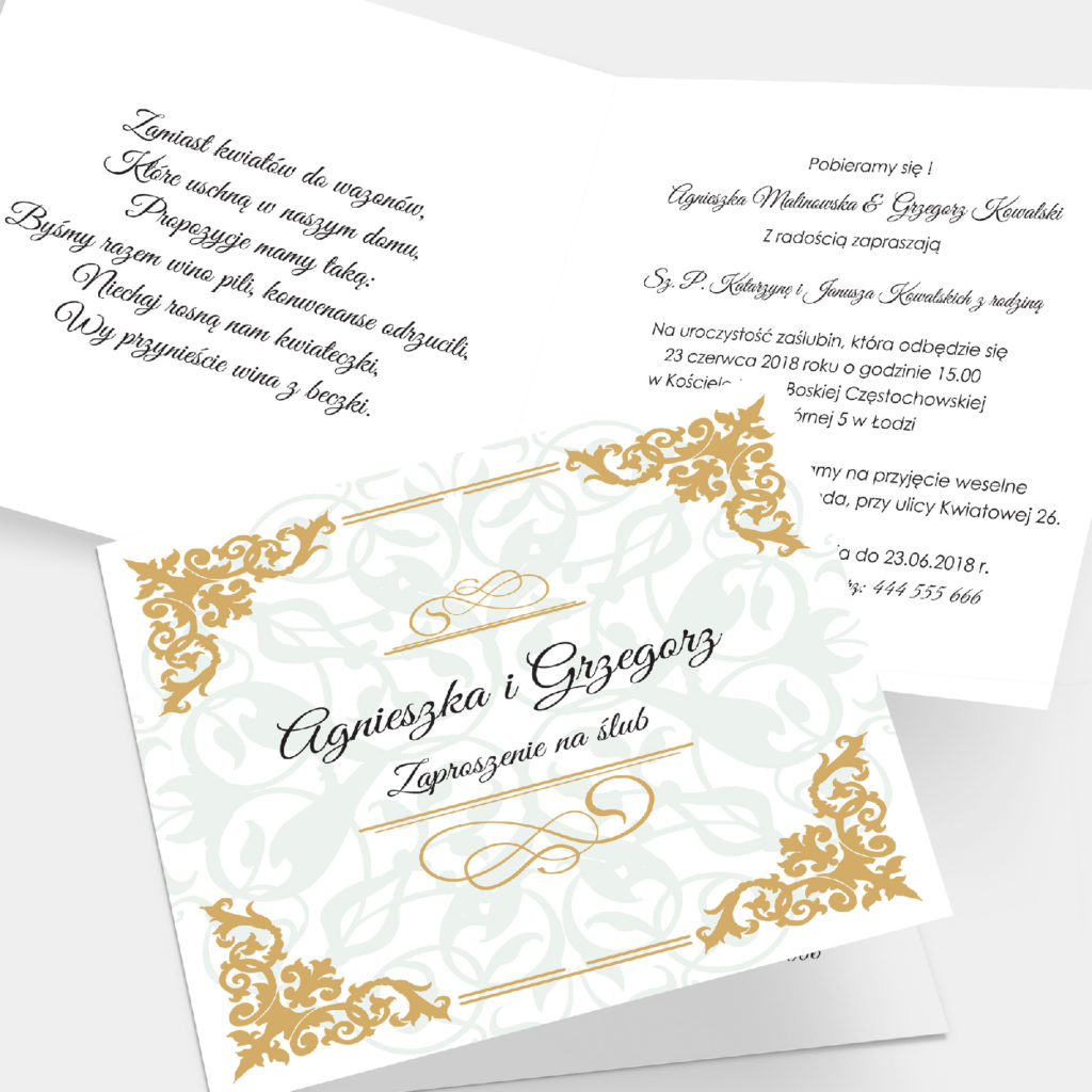 Zaproszenie ślubne Luxury K4