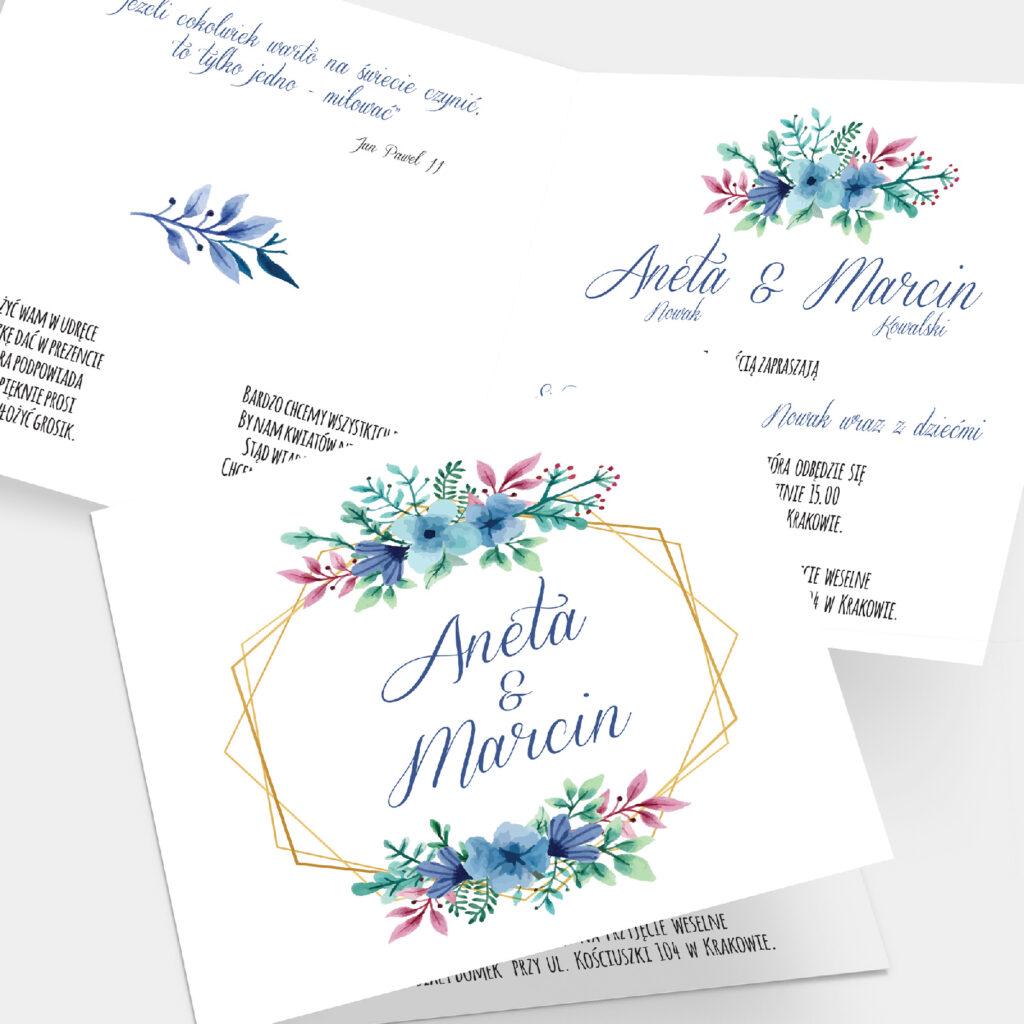 Zaproszenie ślubne Floral K4
