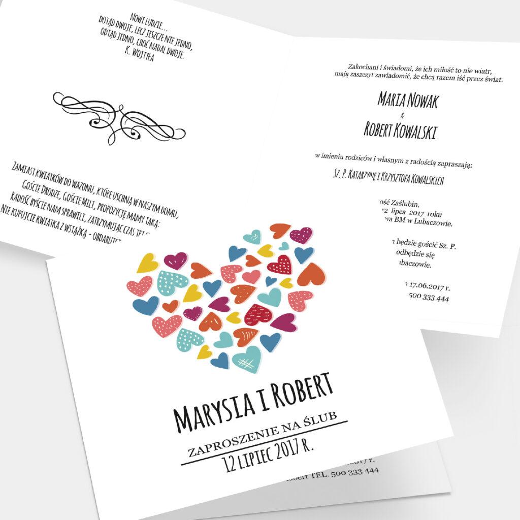 Zaproszenie ślubne Sercowe K4