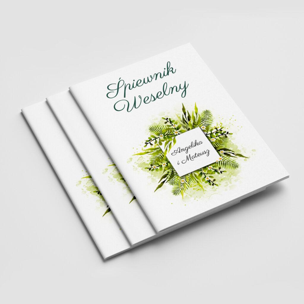 Śpiewnik weselny Zielone liście