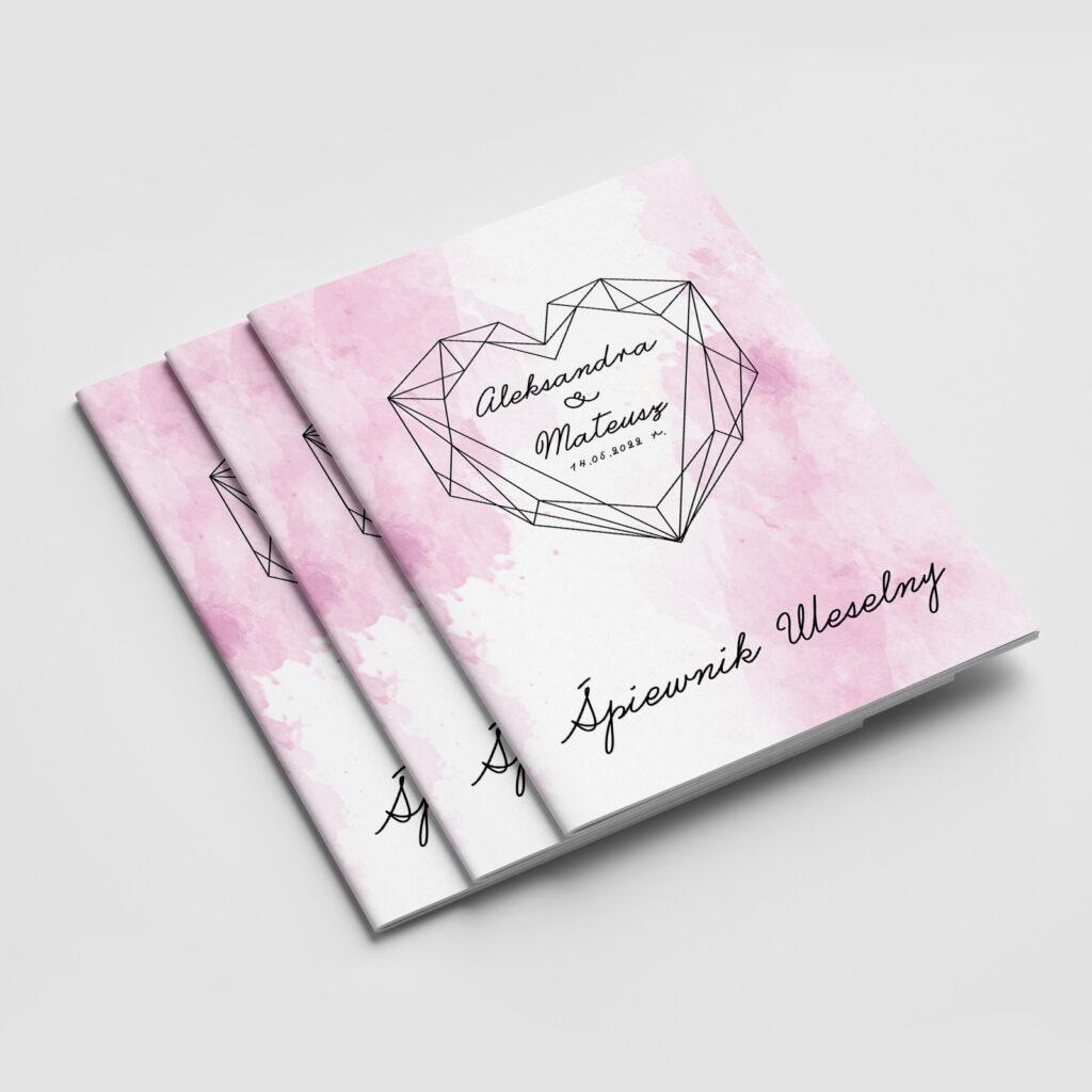 śpiewnik weselny geometric heart