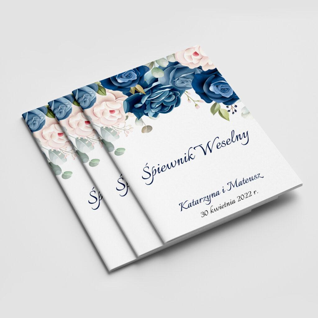 Śpiewnik weselny Niebieskie Kwiaty