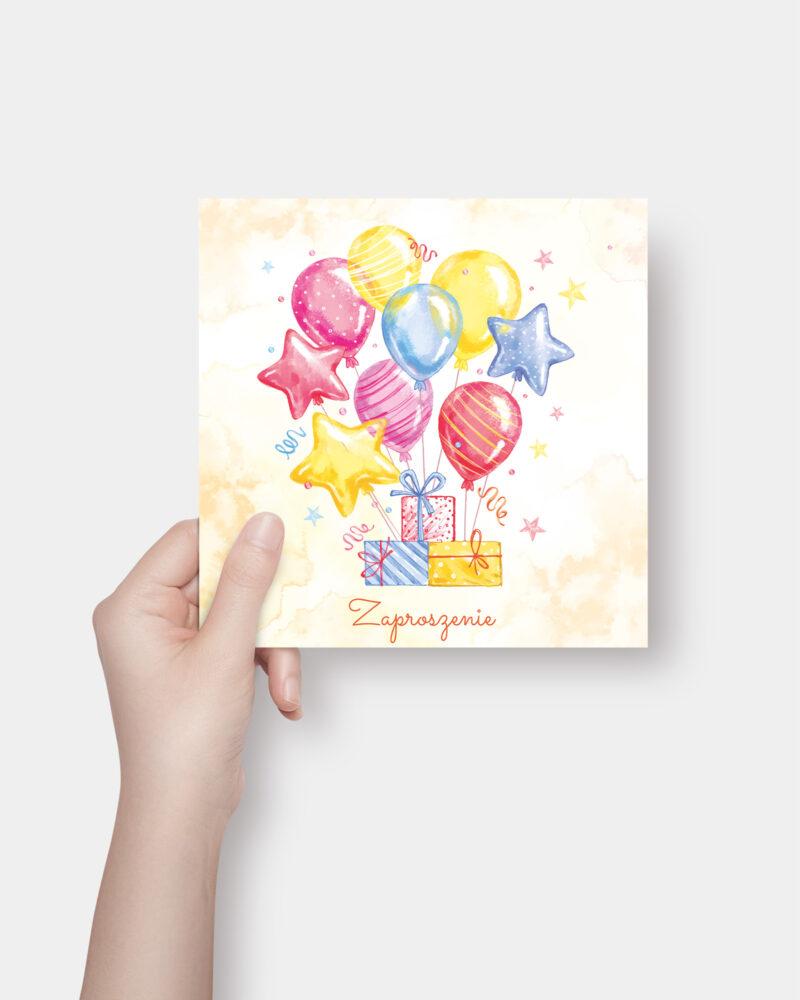 Zaproszenie Urodzinowe Balony K4 Front