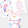 Zaproszenie urodzinowe Różowy Jednorożec A6