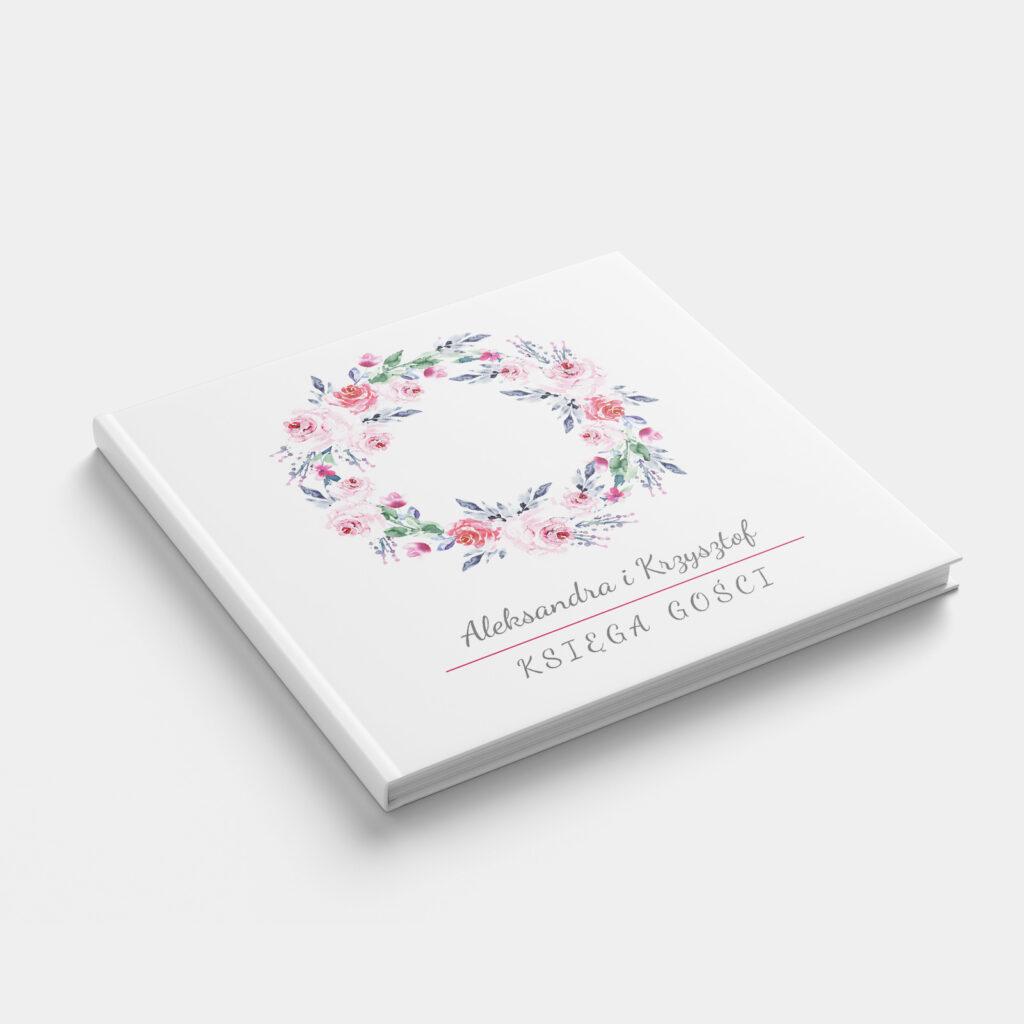 Księga gości Malowane Akwarelami K4 front
