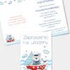 Zaproszenie urodzinowe Miś Marynarz A6