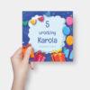 Zaproszenie urodzinowe Prezenty K4 Front