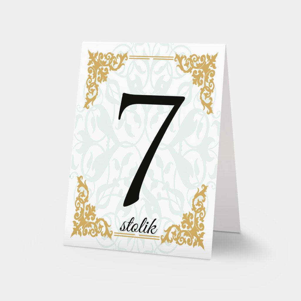 Luxury numer stołu