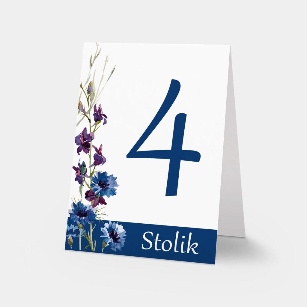 numery stołów polne kwiaty