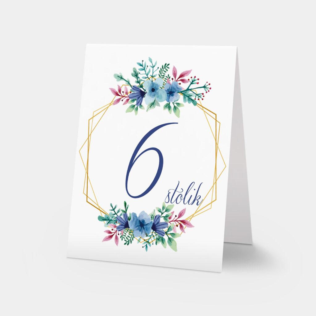 numery stołów floral