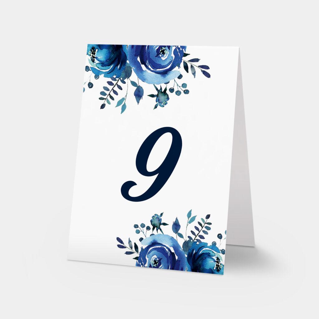 numery stołów szafirowe róże