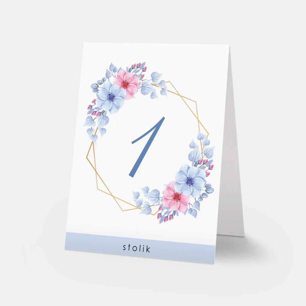 numery stołów sweet flower