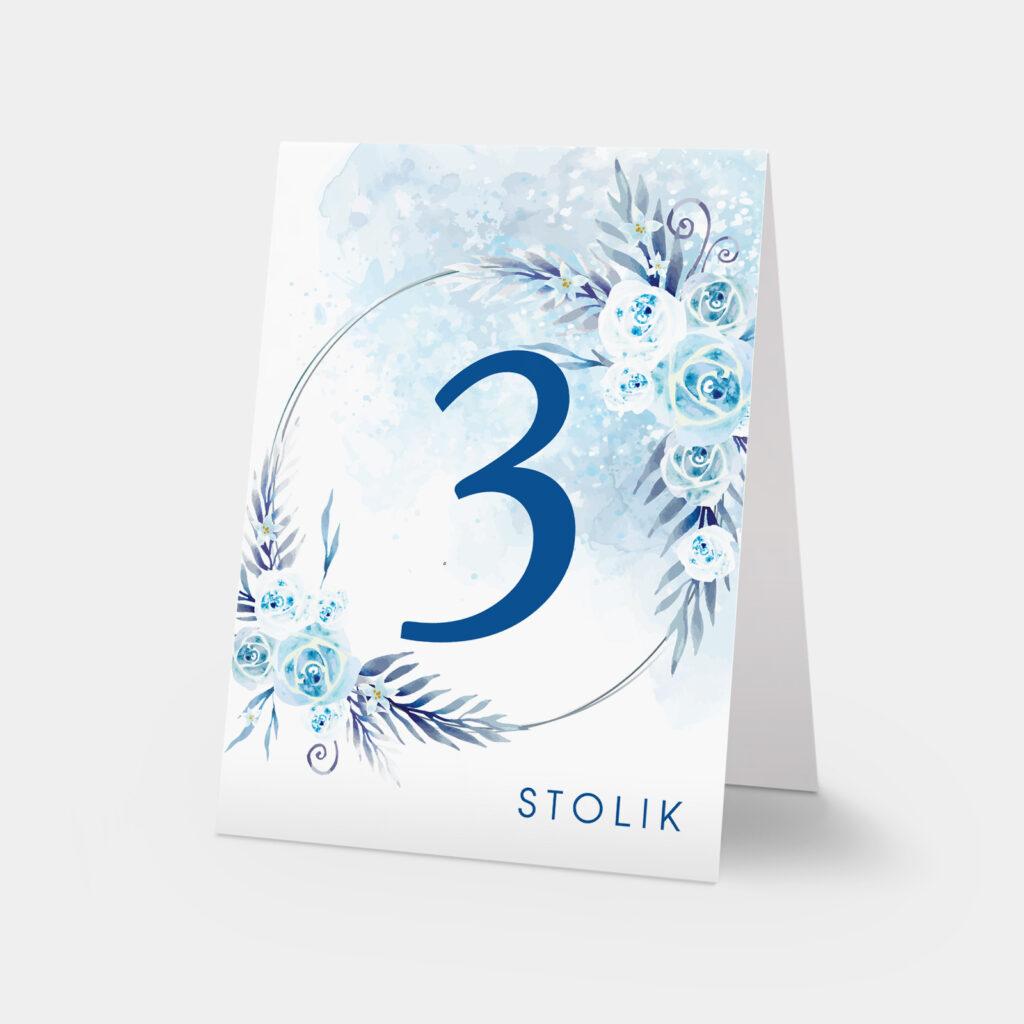 numery stołów w krainie lodu