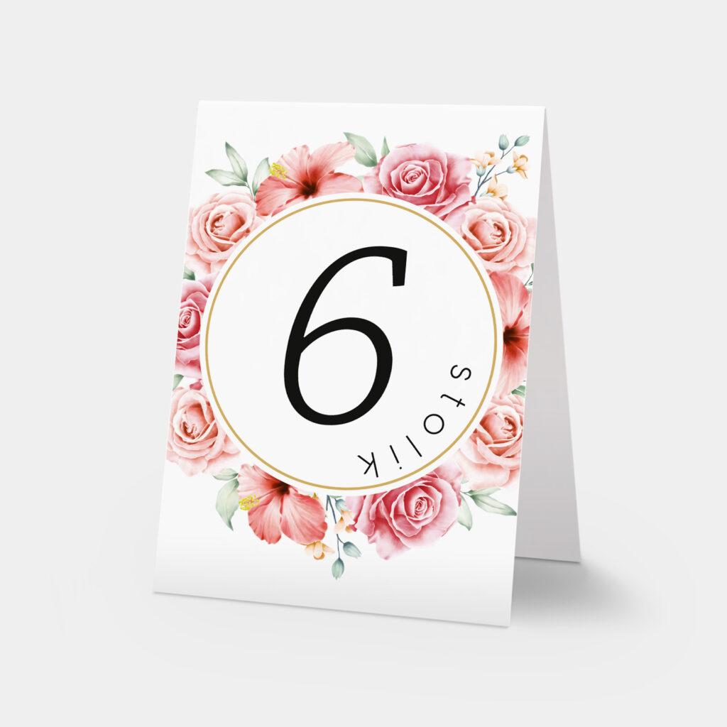 numery stołów love story