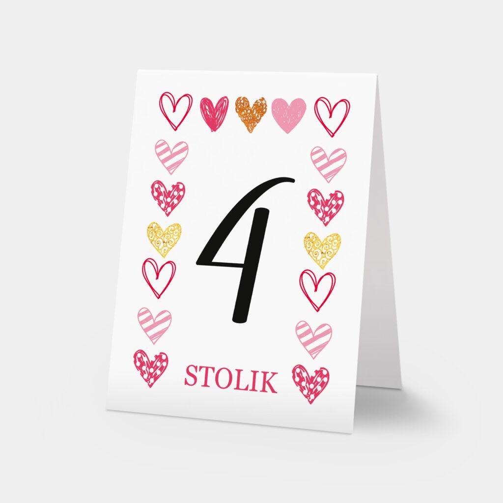 numery stołów sweet heart