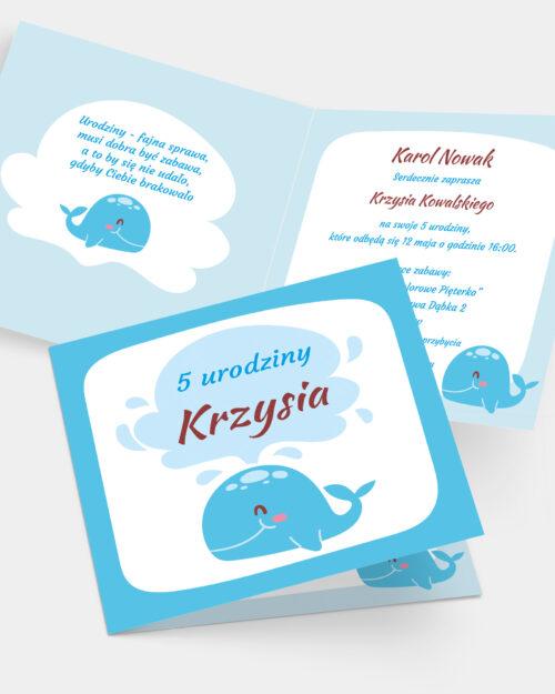 Zaproszenie Urodzinowe Wieloryb K4