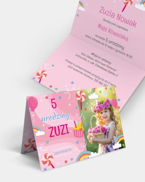 Zaproszenie Urodzinowe Cukierkowe A6