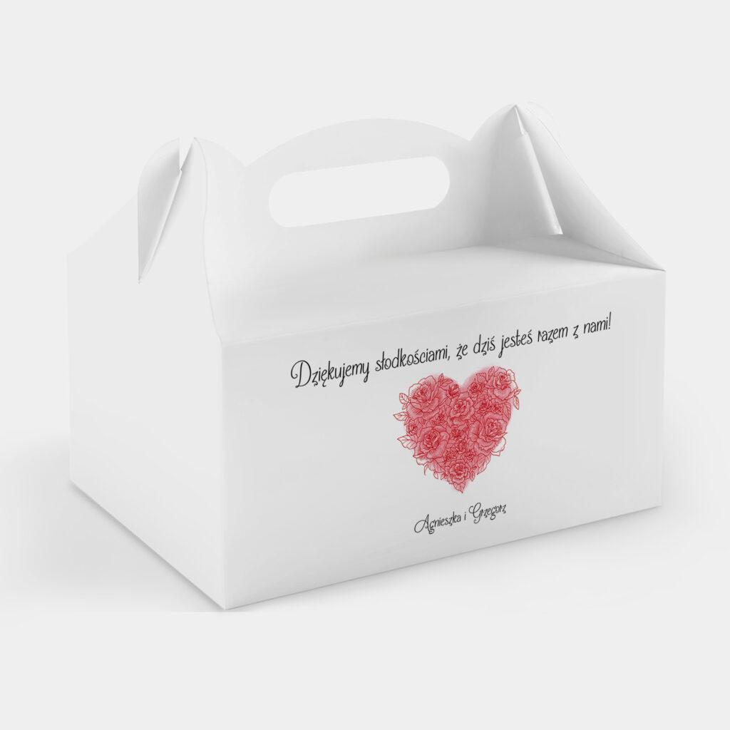 Etykieta na Ciasto Valentine