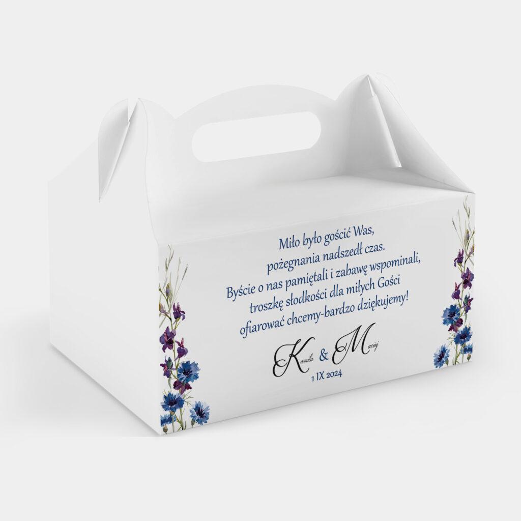 Etykieta na ciasto Polne Kwiaty