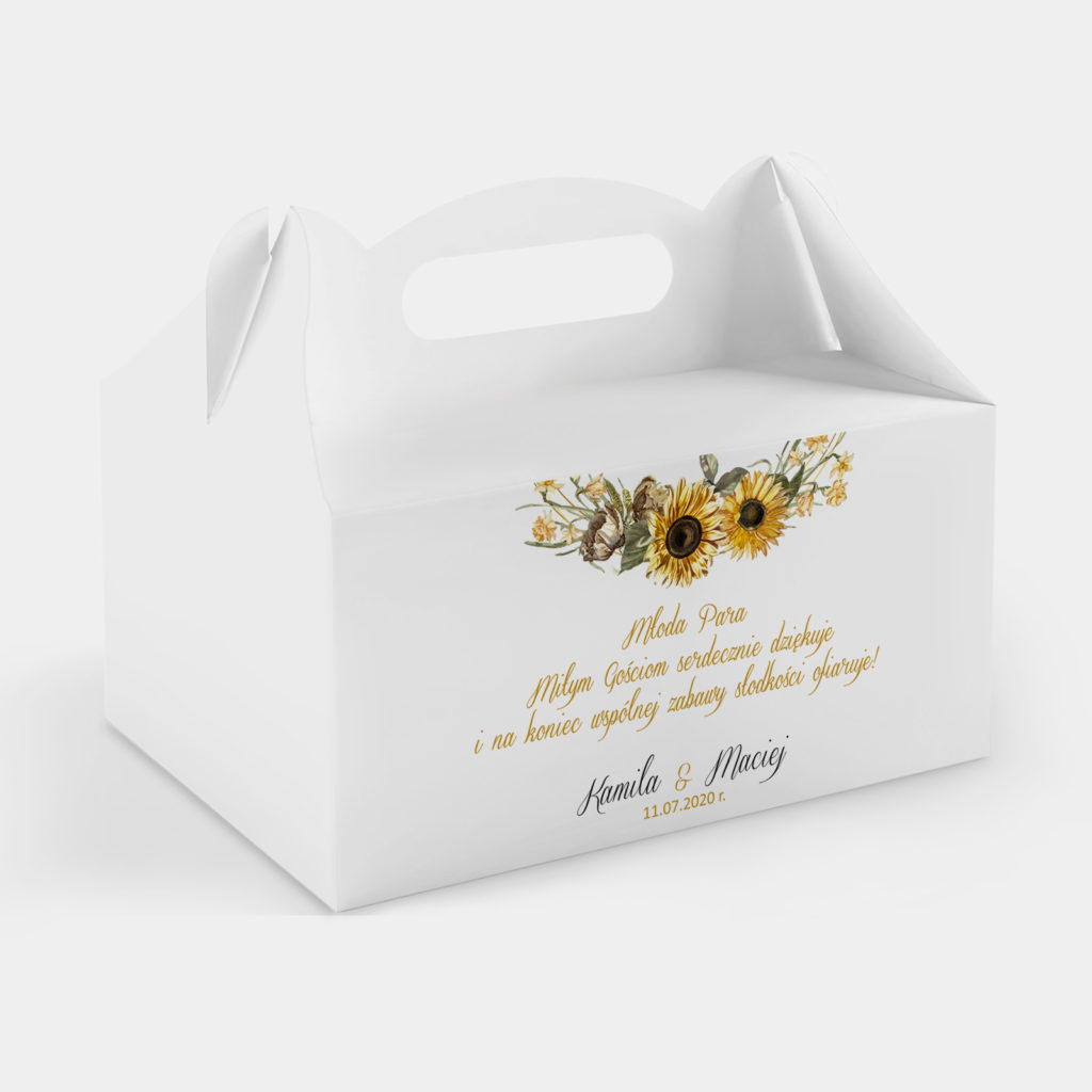 Etykieta na ciasto Słoneczniki