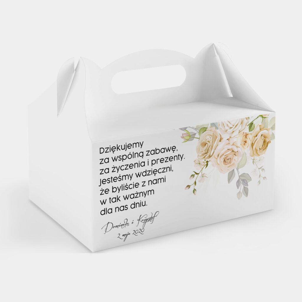 Etykieta na Ciasto Herbaciane Róże