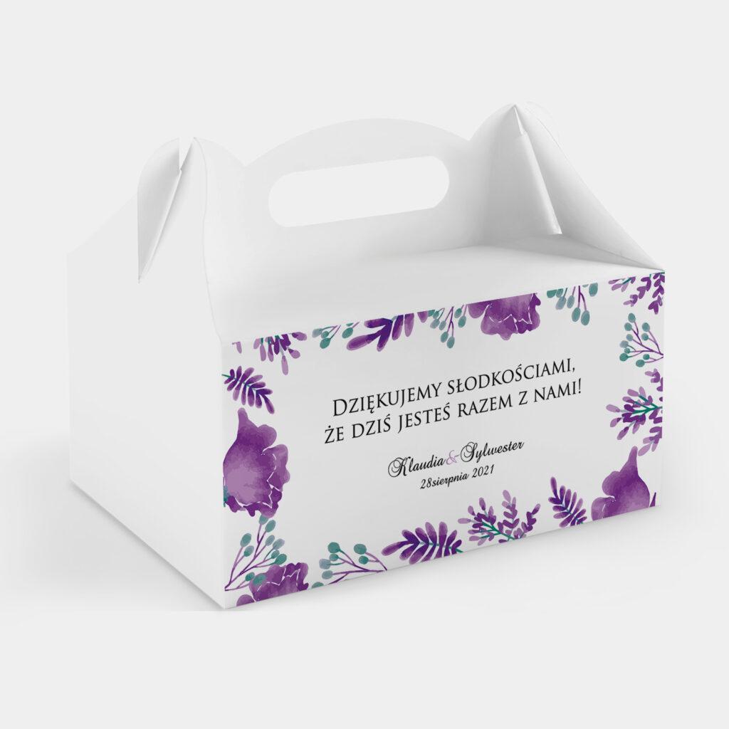 Etykieta na ciasto Fioletowe Kwiaty