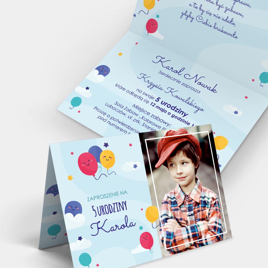Zaproszenie urodzinowe Kolorowe Niebo A6
