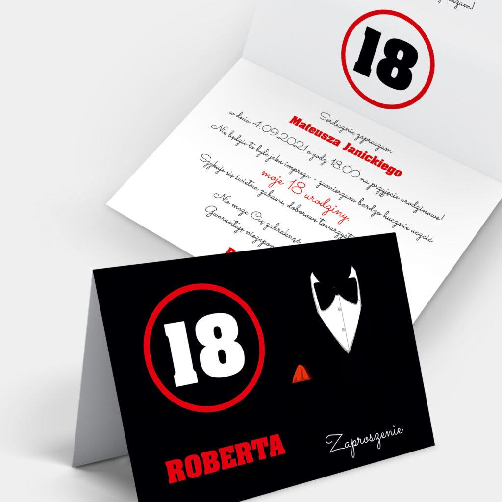 Zaproszenie Urodzinowe Gentleman A6