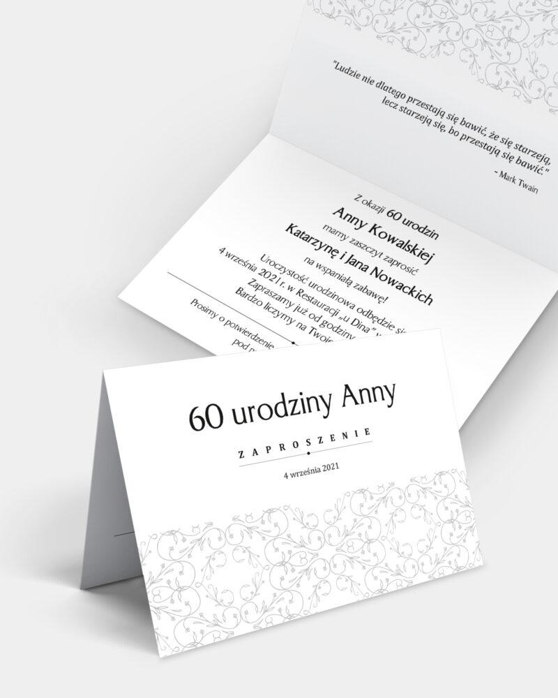 Zaproszenie Urodzinowe Klasyczne A6